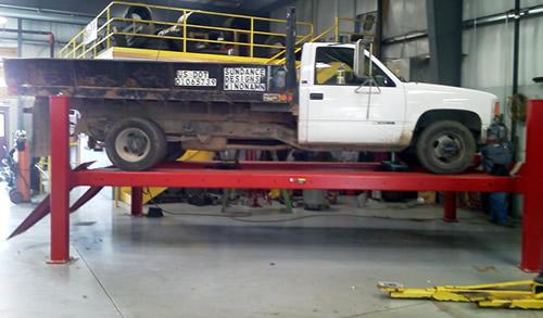 Rotary Lift At Autowerks Tire And Tune Winona Minnesota