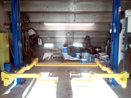 Clements Auto Sales >> TLO7 Turf lift at Minnesota State University Ground Crew Shop