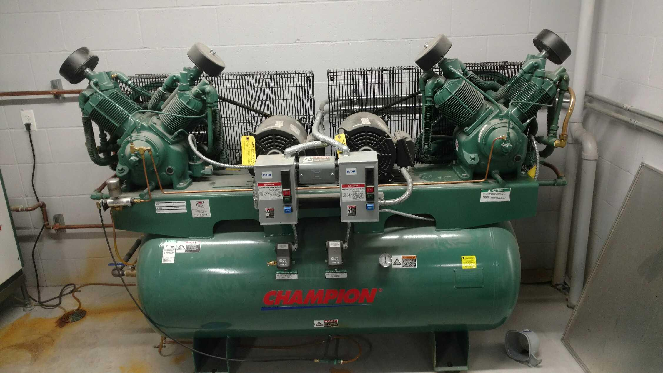 Oil Tanks And Compressor Installed At Dahl Chevrolet In
