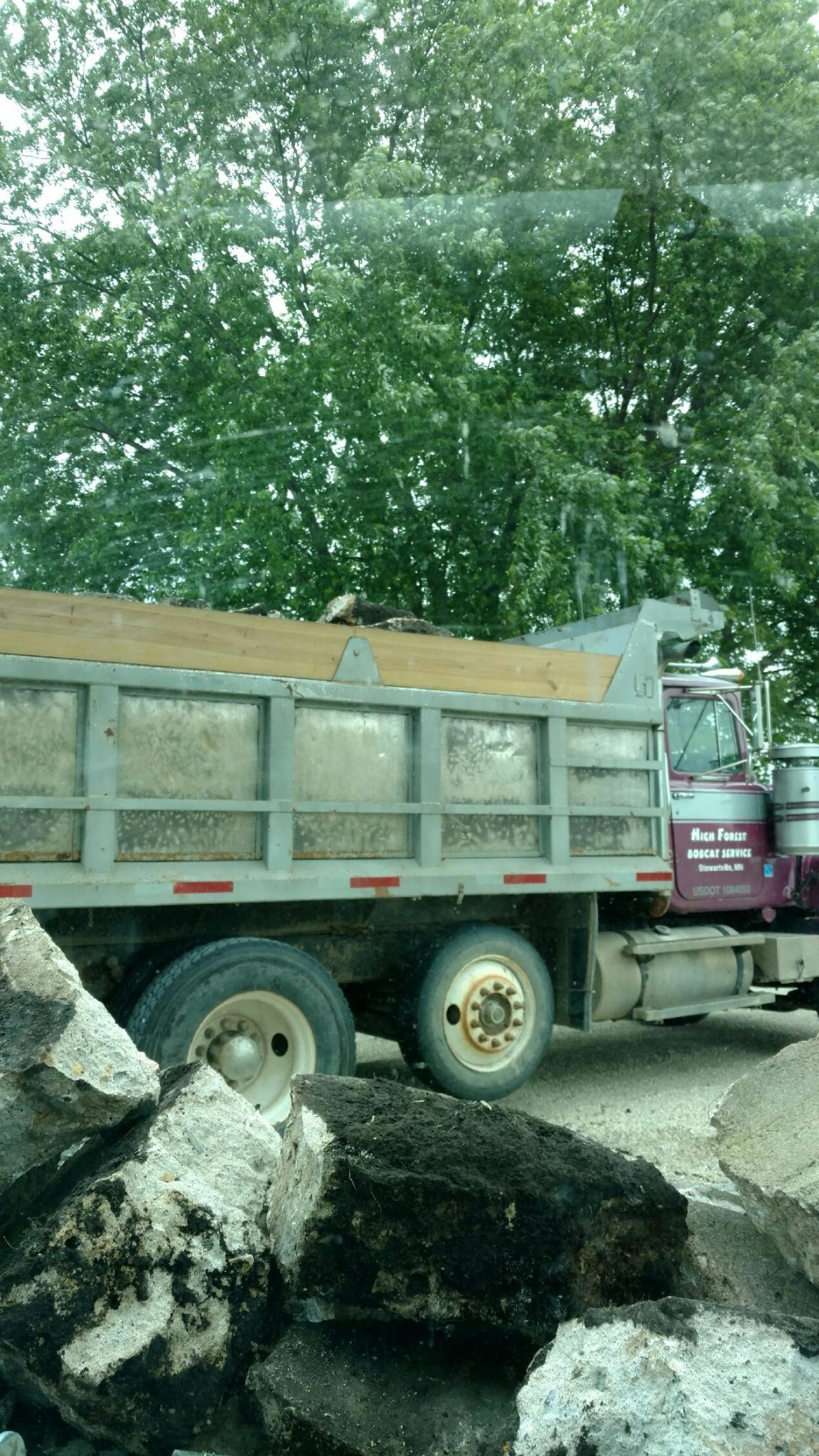 Concrete Pad Break Up And Haul Away Done In Hayfield Mn